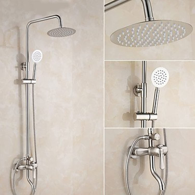 SISHUINIANHUA Duscharmaturen - Moderne Modern Gebürsteter Nickel Nur Dusche Keramisches Ventil Einzigen Handgriff Zwei Lcher