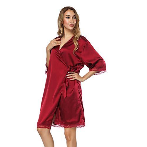 N\ A Pijamas para mujer, tamaño grande, suelto, sexy, casual, cómodo, camisón para el hogar - - Tamaño promedio