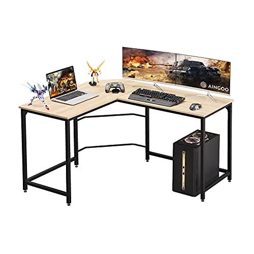 Corner Desk L Shaped Desk Sturdy Home Office PC Laptop Workstation Gaming Computer Desk Study...