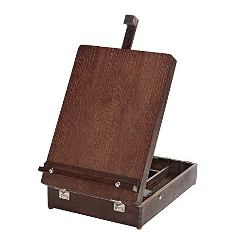 KINGART - Caballete de mesa (madera de expreso), acabado espresso, talla única