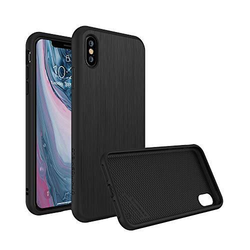 RhinoShield Case kompatibel mit [iPhone X] | SolidSuit - Schock Absorbierende Schutzhülle mit Premium Finish 3,5 Meter Fallschutz - Brushed Steel Finish