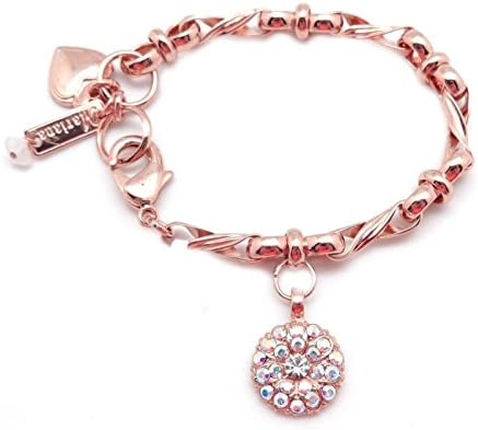 Mariana 001AB Guardian Angel Crystal AB Swarovski Crystal Rose Gold Plated Bracelet 7 8 product image