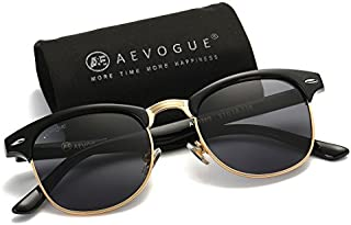 AEVOGUE Polarized Sunglasses Semi-Rimless Frame Brand...