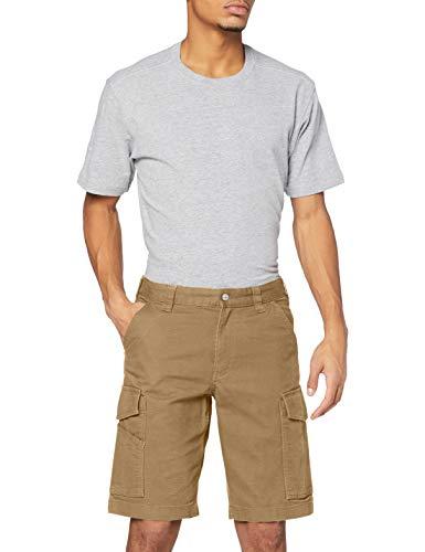 Carhartt Rigby Rugged Cargo Short Pantaloncini, Dark Khaki, W33 Uomo