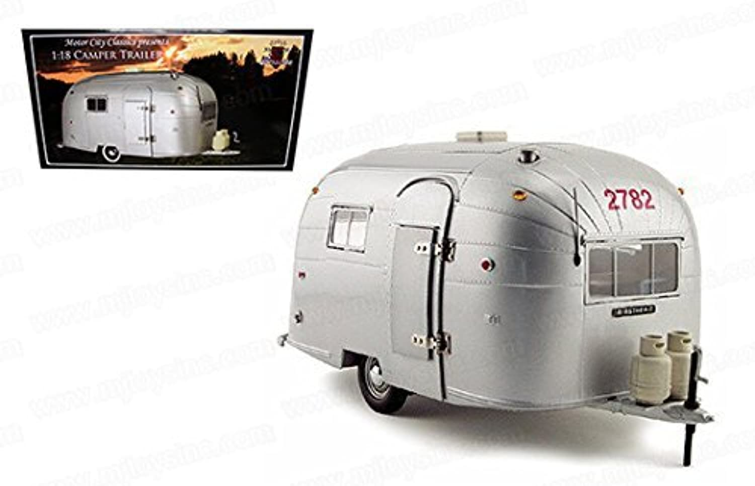 MOTOR CITY CLASSICS 1 18 AIRSTREAM ALUMINUM CAMPER TRAILER  Prime shipping by MOTOR CITY