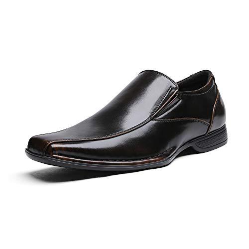 Bruno Marc Giorgio-1 Hombre Mocasines de Vestir Flexibles Cómodos Zapatos Marrón Oscuro 40 EU/7.5 US
