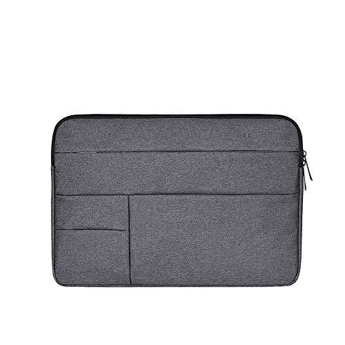 Baomasir Sleeve Hülle Oxford-Stoff wasserabweisend Laptop Hülle kompatibel 13-13,3 Zoll MacBook Pro/Air, Multi-Objekt-Tasche, große Kapazität, Dunkelgrau