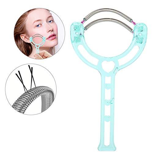 Gesichtshaarentferner, effektive Epilierer Portable Face Lips Epilator Haarentfernung Kunststoff Feder Gerät Beauty Tool für Frauen & Männer (Grün)