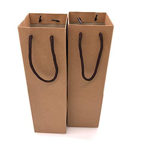 MURUI 12 bolsas de vino para botellas de vino, bolsas de papel kraft con asa, reutilizables, bolsas de vino tinto, bolsa de regalo, bolsa de vino, bolsa para compras, recuerdos de fiesta YC0222