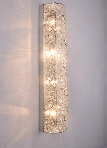 SPARKSOR moderne luxe kristallen muur licht chroom afwerking muur schans verlichting armatuur 4xG9 4-lampen (zilver)