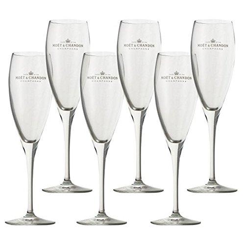 6 Moet Champagner Gläser