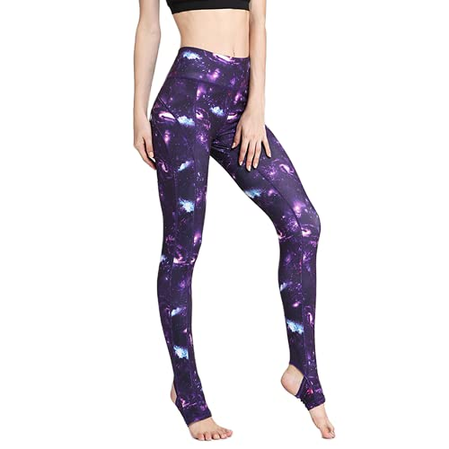 QTJY Pantalones de Yoga elásticos y de Secado rápido para Mujer, Pantalones de Ejercicio Push-up para Gimnasio, Pantalones para Correr de Cintura Alta al Aire Libre, E XL