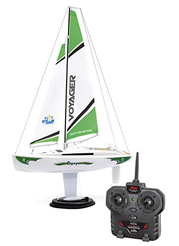 PLAYSTEAM Mini Voyager 280 RC Sailboat in Green