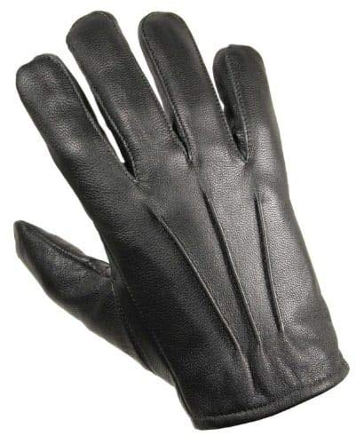 Protec Kevlar Anti Slash and fire Resistant Black Leather Glove. (Large)