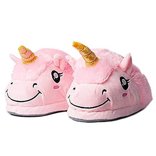 Zapatillas Unicornio Casa para Mujer Niñas Zapatos de Felpa Casa Lindas de Invierno Pantuflas de Estar por Casa Invierno
