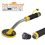 Wedigout Metal Detector 100Feet Underwater Fully Waterproof Pin Pointer Handheld Pulse Induction Targeting with Vibration LED
