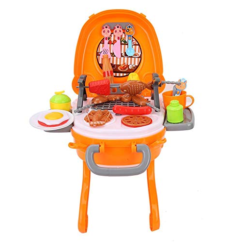 VGEBY1 Barbecue Toys Sets, BBQ Grill Play Toys Barbecue Grill Set Lernspielzeug für Kinder Kleinkinder
