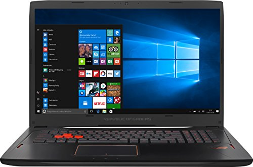 Asus ROG Strix GL702VS-BA002T Portatile, 17.3' FullHD, Intel Core i7 7700HQ 2.8 GHz, 16 GB RAM DDR4, HDD 1 TB, GeForce GTX 1070 8GB GDDR5, [Spagna]