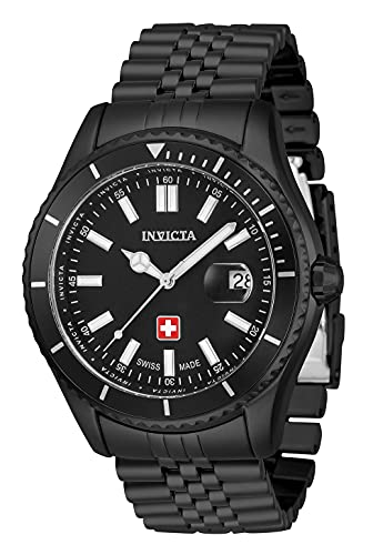 Invicta Men Pro Diver Quartz Watch with Stainless Steel Strap, Black, 22 (Model: 33435)
