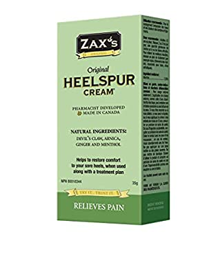 Zax's Original Heelspur Cream - Top Selling Foot Pain Cream: Relieve Pain & Inflammation Now from: Plantar Fasciitis, Heel Spurs, Shin Splints, Achille's Injuries and Morton's Neuroma. Not Freezing or Numbing. Pharmacist Developed. Natural Ingredients.