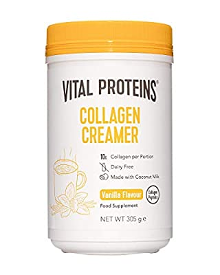 Vital Proteins Collagen Coffee Creamer, No Dairy & Low Sugar Powder with Collagen Peptides Supplement - with Energy-Boosting MCTs - Vanilla 305g