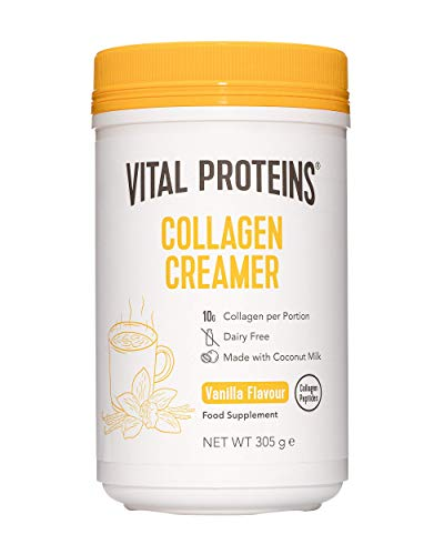 Vital Proteins Collagen Coffee Creamer, No Dairy & Low Sugar Powder with Collagen Peptides Supplement - Supporting Healthy Hair, Skin, Nails with Energy-Boosting MCTs - Vanilla 305g