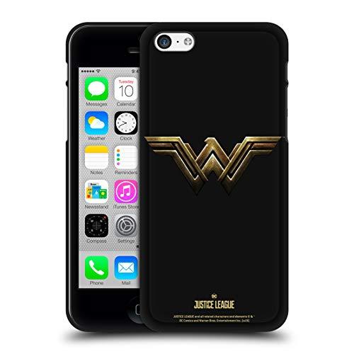 Head Case Designs Ufficiale Justice League Movie Wonder Woman Logos Cover Nera in Morbido Gel Compatibile con Apple iPhone 5 / iPhone 5s / iPhone SE 2016