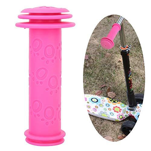 Alomejor Manopole per Manubrio per Bicicletta per Bambini Antiscivolo Copertura per Bici Scooter(Rosa Rossa)
