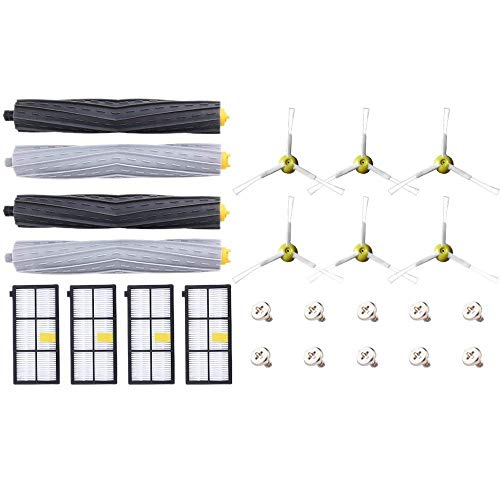 YUXIwang Cleaner Part Kit de reemplazo for la serie 900 800 860 870 871 805 880 890 960 980 Robotic Vacuum Cleaner accesorios Con el rodillo 4, 4 y 6 Hepa Fliter cepillos laterales 10 Tornillos Acceso