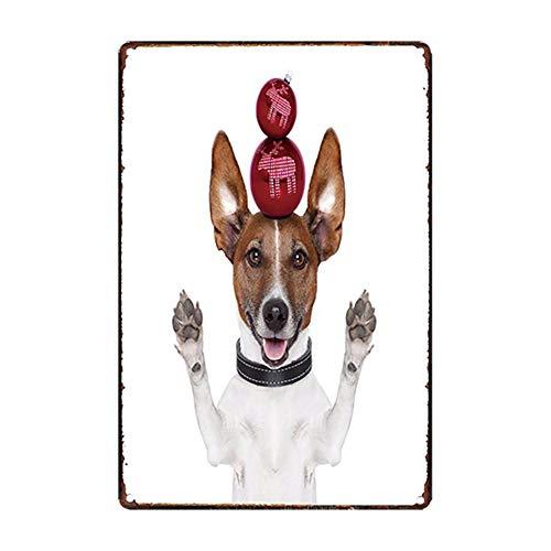 iTemer. 1Pcs Retro Cartel de Chapa Mascotas Gatos y Perros Póster Bar Cafe Restaurante Publicidad Pared Cartel para Puerta Cartel Metálico para Pared Decoración 20X30CM Style 6