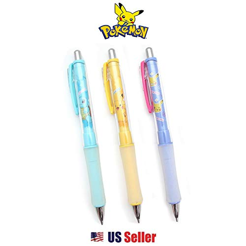 Pocket Monster 0.5mm Shaky Mechanical Pencil with Pocket Clip 3pc (Ver.2)