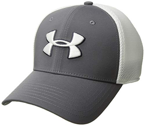 Under Armour Men's Microthread Golf Mesh Cap, Graphite (040)/White, Large/X-Large