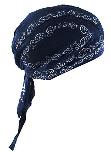 Deportes Headwear secado rápido sol protección UV Ciclismo Bandana Running gorro bicicleta motocicleta casco de bajo de calavera, Cotton Bandana-Deep Blue