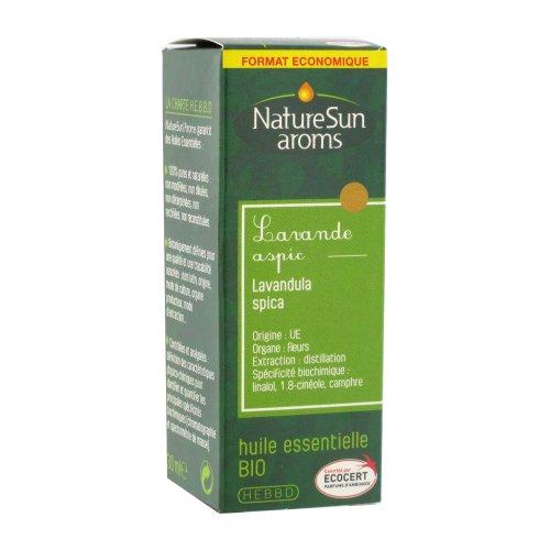 Naturesun aroms - Huile essentielle lavande aspic bio - 30 ml huile essentielle - Antiseptique