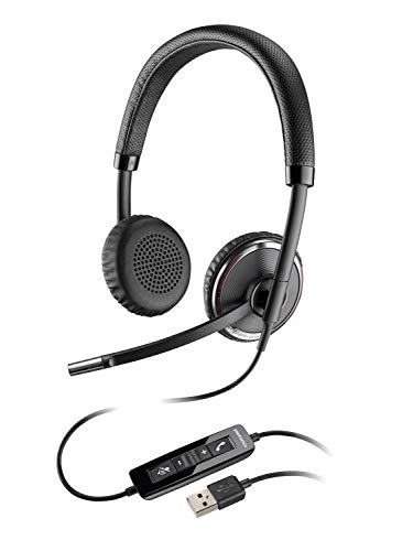 Plantronics Blackwire C520-M USB-Headset für PC, mit Zwei Kopfhörermuscheln (optimiert für Microsoft Lync)