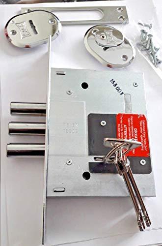 25mm backset KALE KILIT 153//85 mm verrous de porte pour Profils en aluminium//Serrure//Door Locks For Aluminium Profiles//Lock Cases For Cylinder Locks