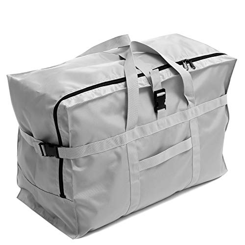 Extra Large Travel Duffel Bag 28'',120L,Anti Theft Travel Tote Luggage Bag Checked Bag Black Oversized (silver)