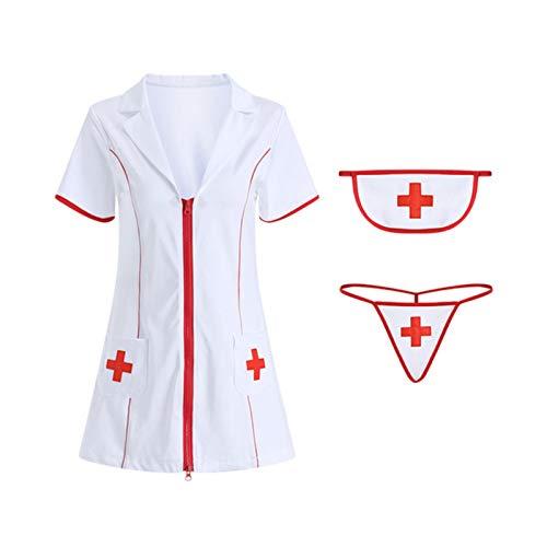 Tiny Lencería Sexy de Enfermera, Traje de Cosplay erótico Travieso, Uniforme de Enfermera, Disfraz de médico para Mujeres, niñas, Ropa de cachonda, Nuevo