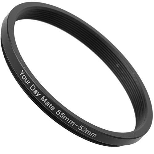 Step Down Ring, Ø 55 auf 52 mm Durchmesser, kompatibel mit Objektiven Aller Hersteller wie Canon, Sony, Nikon, Fujifilm, Filteradapter Kamera, Filter Adapter Ring, Camera Objektiv Filter Adapter
