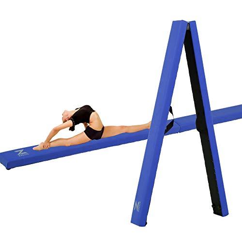 Z ZELUS Barra de Equilibrio de Gimnasia 8 Pies/224CM Viga de Equilibrio Plegable y Portátil para Entrenamiento Balance Beam de Gimnasia para Niños y Principantes (Azul)