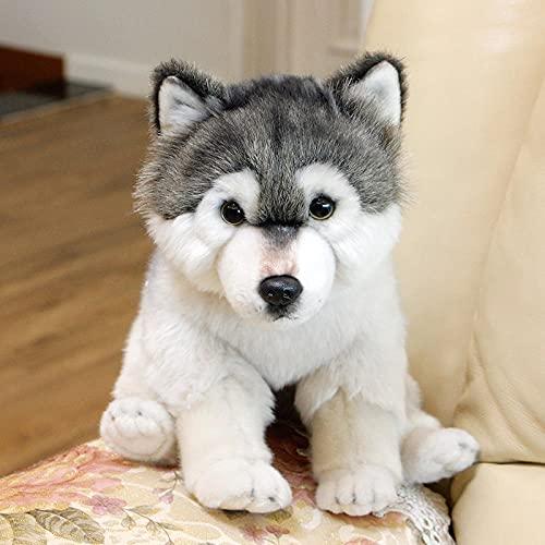 NC277 South Korea imported simulation Alaska gray wolf plush toy doll