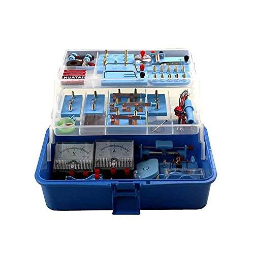 BJH Caja de experimentos electromagnéticos Completa de física de Laboratorio, Consulta de Bricolaje para la Universidad Familiar y Juegos de experimentos de principios Kit Suministros para Apara