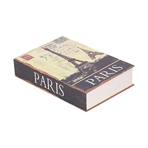 Caja fuerte para libros, con forma de libro simulado, exquisita y duradera caja fuerte, con llaves para Studente Cash Coin Almacenamiento de dinero Tienda para niños Documentos importantes