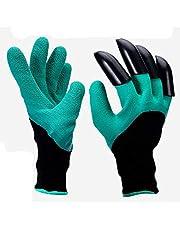 1 Pair Gardening Gloves Digging/Planting/Weeding Claw Gardening Gloves Outdoor Gloves Garden Planting Digging Gloves Gardening Digging Gloves Planting Rubber Polyester Safety Work Gloves