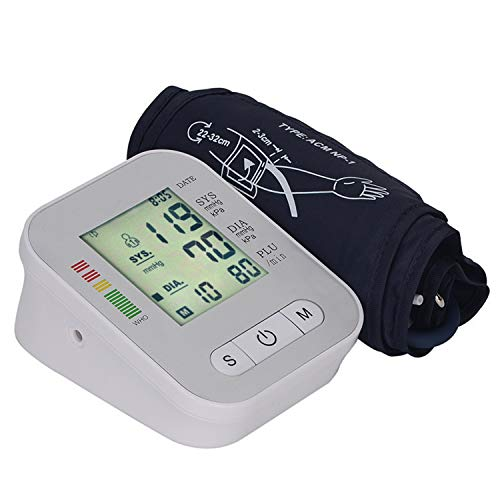 Digitaler Monitor mit großer Manschette, vollautomatisch, unregelmäßiger Herzschlag und Pulsfrequenzmessung, messbarer Armumfang 22-32 cm