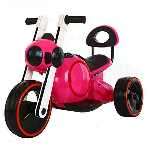 Electric Music Light Motorcycle 3 Wheel Chopper Trike for Kids, Battery Powered Ride on Toy by Ride on Toys for Boys And Girls,Pink