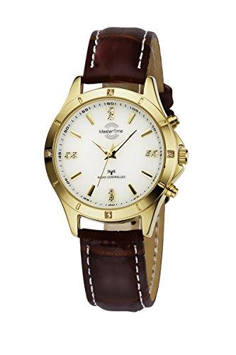 Master Time Funk Quarz Damen Uhr Analog mit Leder Armband MTLA-10339-11L
