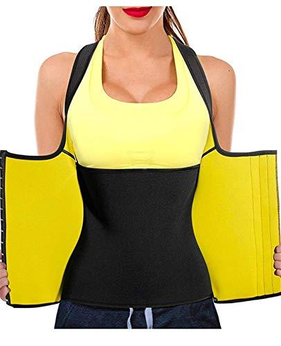 Camiseta sin Mangas de Fitness para Mujer, corsé de Cintura Moldeador de Adelgazamiento Fuerte, Soporte Lumbar para la Espalda y Cintura Adelgazante para Mujer Sauna, Chaleco térmico Deportivo