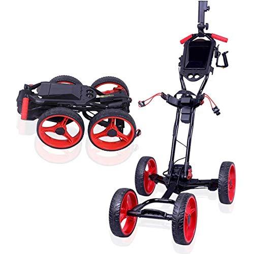 Elektrische Golftrolleywagen Opvouwbare Golfduw-trekwagen Met Handrem, Verstelbare Duwhandgreep, Gemakkelijk Te Openen/Sluiten
