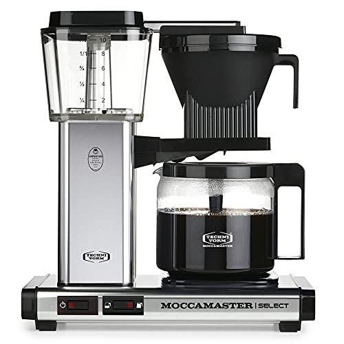 Moccamaster CD Silver Overflow ekspres do kawy KBG 741 wybór polerowany